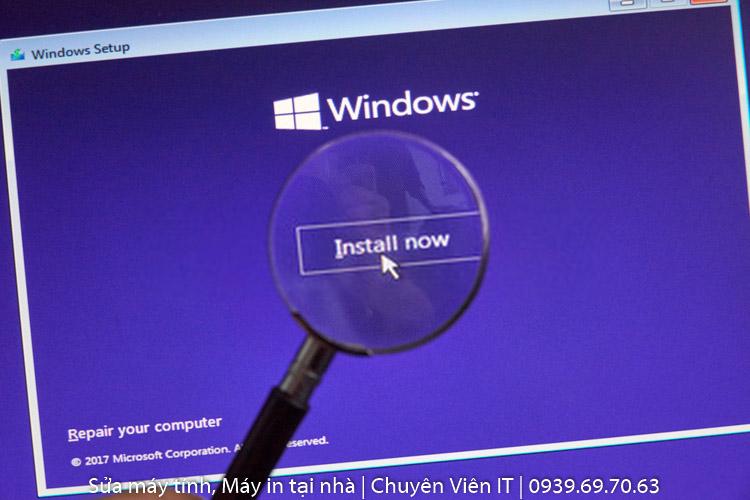 dịch vụ cài đặt Windows tận nơi tại TPHCM