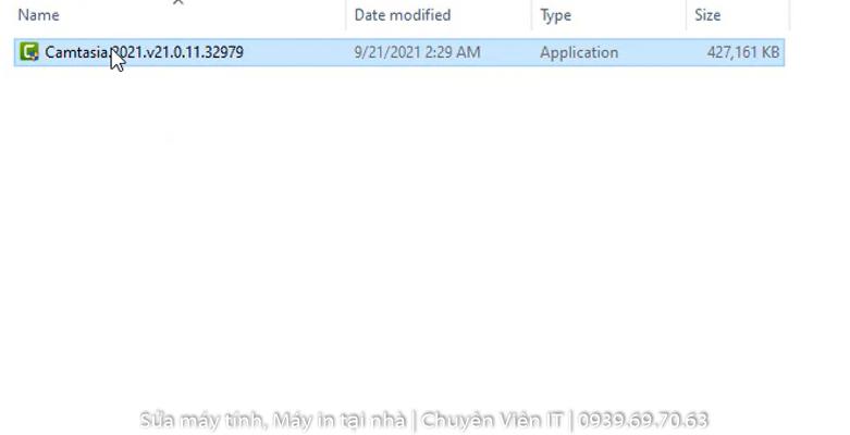Chạy phần mềm Camtasia.2021.v21.0.11.32979